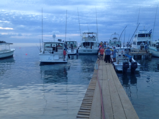Roatan Fishing Tournament Dock