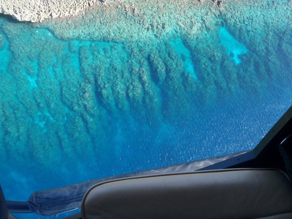 West Bay Reef from a Helicopter